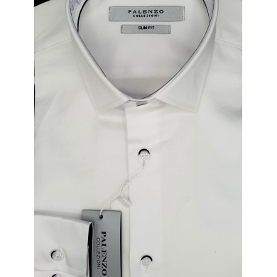 Chemise Palenzo Blanche Boutons Marine