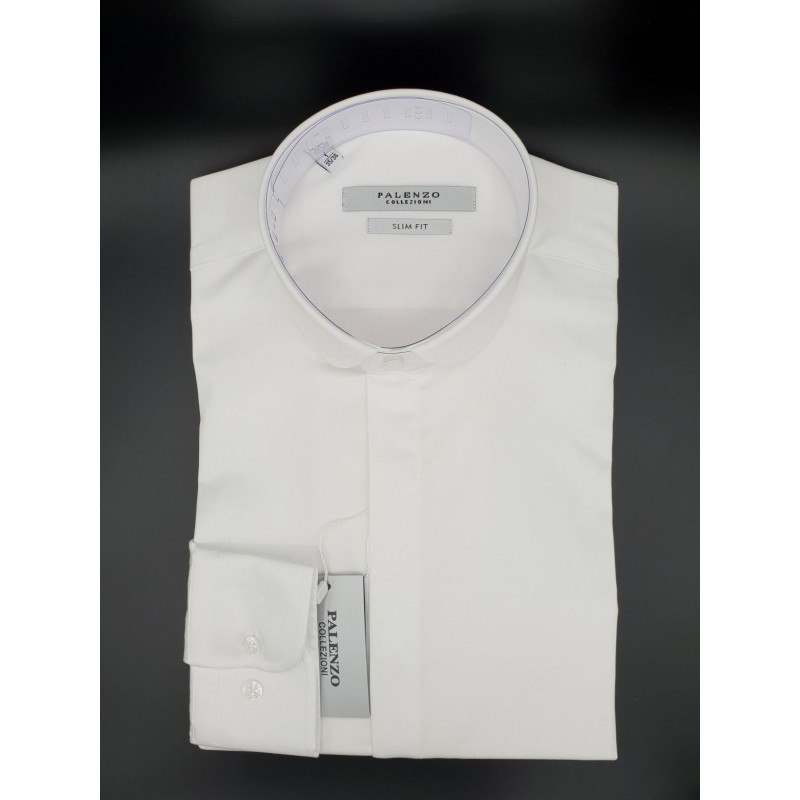 Chemise Palenzo Blanche Col Claudine