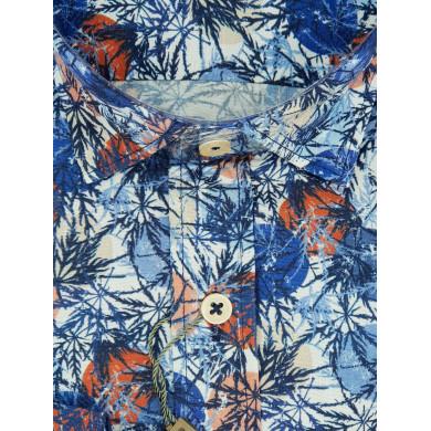 Chemise Brango Motif Bleu & Rouge