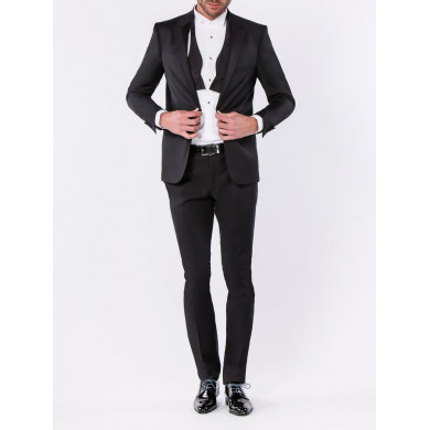 SMOKING SLIM FIT MATERA COL CRAN AIGU NOIR