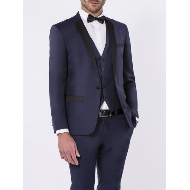 SMOKING SLIM FIT VENISE BLEU