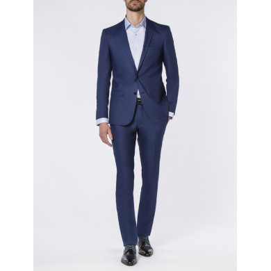 COSTUME SLIM FIT FLORENCE BLEU DUR